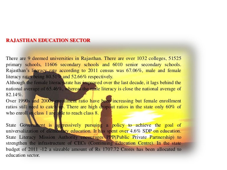 Development of English education in Rajasthan
