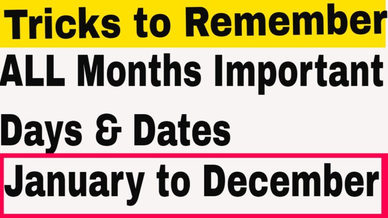 Important Days and Dates (Month-wise) – GKDUNIYA.IN
